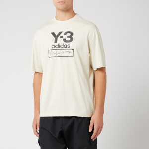Y-3 Men's Stacked Logo Short Sleeve T-Shirt - Ecru