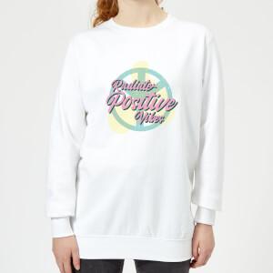 Radiate Positive Vibes Women's Sweatshirt - White