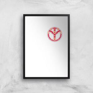 Floral Pattern Peace Symbol Art Print