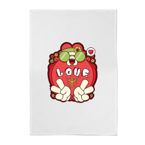 Hippie Love Cartoon Cotton Tea Towel