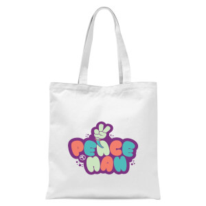 Peace Man Tote Bag - White