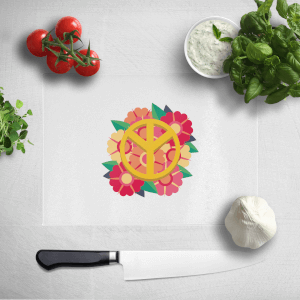 Peace Symbol Floral Chopping Board