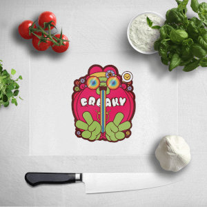 Hippie Psychedelic Cartoon Chopping Board