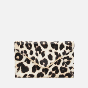 Anya Hindmarch Women's Postbox Calf Hair Clutch Bag - Leopard