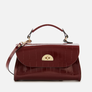 The Cambridge Satchel Company Women's Mini Daisy Bag - Oxblood Patent Croc