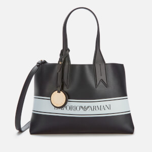 Emporio Armani Women's Shopper Bag - Black/White