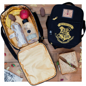 Harry Potter 2 Pocket Lunch Bag - Black/Gold