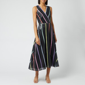 Olivia Rubin Women's Thea Dress - Black Thin Stripe