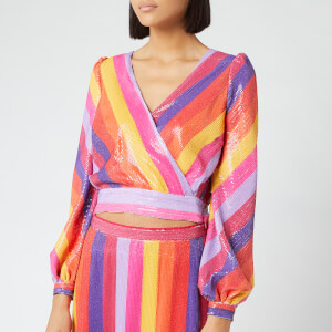 Olivia Rubin Women's Kendall Top - Rainbow Stripe