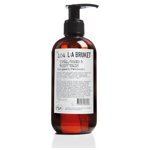 L:A BRUKET Small Bergamot and Patchouli Hand and Body Wash 250ml
