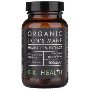 KIKI Health Organic Lion's Mane Extract Mushroom (60 Vegicaps)