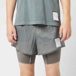 "Satisfy Men's Coffee Thermal Short Distance 8"" Shorts - Steel"