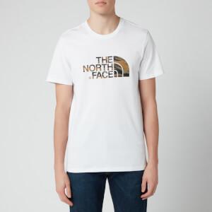The North Face Men's Easy Short Sleeve T-Shirt - TNF White/British Khaki Tiger Camo Print