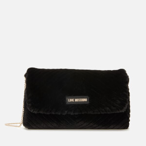 Love Moschino Women's Faux Fur Shoulder Bag - Black