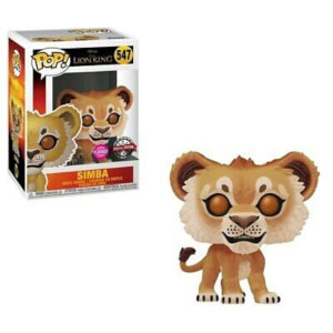 Figurine Pop! Simba Flocked EXC - Le Roi Lion 2019