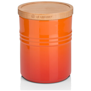 Le Creuset Stoneware Medium Storage Jar with Wooden Lid - Volcanic
