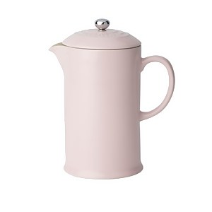 Le Creuset Stoneware Cafetiere Coffee Press - Chiffon Pink
