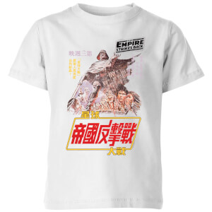 Star Wars Empire Strikes Back Kanji Poster kinder t-shirt - Wit