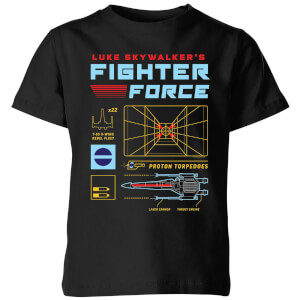 Star Wars Fighter Force kinder t-shirt - Zwart