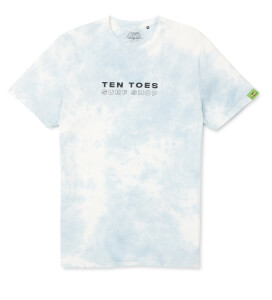 Batman Surf Ten Toes T-Shirt - Light Blue Tie Dye