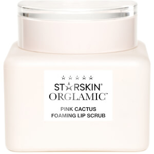 STARSKIN Orglamic Pink Cactus Foaming Lip Scrub Exfoliate and Smooth 0.51 fl. oz