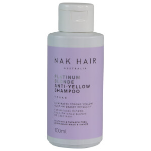 NAK Platinum Blonde Anti-Yellow Shampoo 100ml