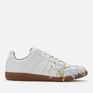 Maison Margiela Men's Replica Low Top Trainers - Off White Paint