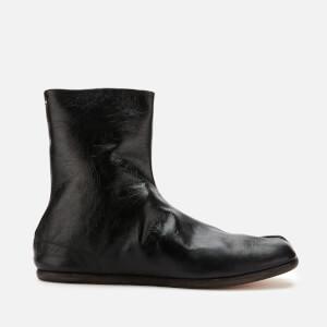 Maison Margiela Men's Tabi Ankle Flat Boots - Black