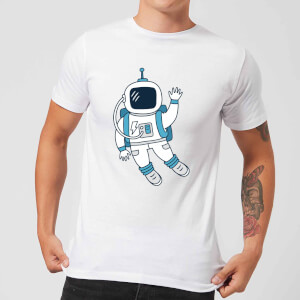 Astronaut Waving Men's T-Shirt - White