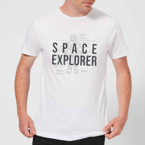 Space Explorer Schematic Men's T-Shirt - White