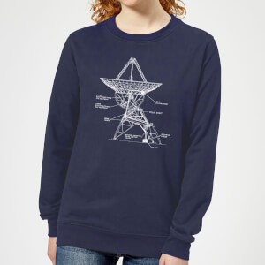 Satellite Schematic Women's Sweatshirt - Navy