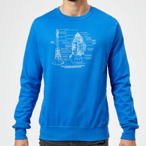 Command And Service Module Schematic Sweatshirt - Royal Blue