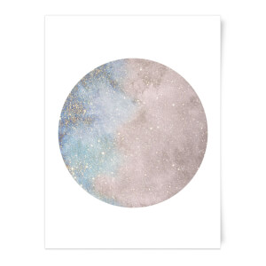 Colourful Moon Art Print
