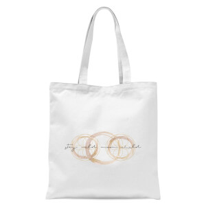 Stay Wild Moon Child Tote Bag - White