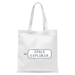 Space Explorer Tote Bag - White
