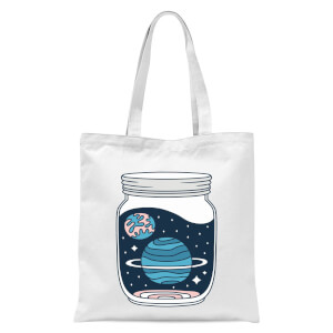 Space Jar Tote Bag - White
