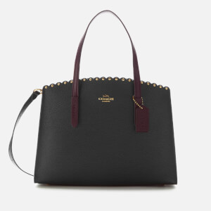 Coach Women's Scallop Rivets Charlie Carryall Bag - Black