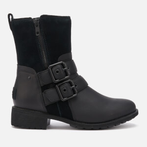 UGG Women's Wilde Buckle Biker Boots - Black
