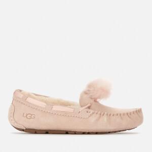 UGG Women's Dakota Pom Pom Moccasin Slippers - Quartz