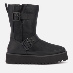 UGG Women's Classic Rebel Biker Short Boots - Black