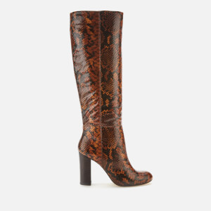 Dune Women's Simonne Leather Knee High Boots - Reptile Print