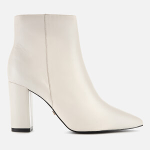 Dune Women's Otilia Leather Heeled Ankle Boots - White