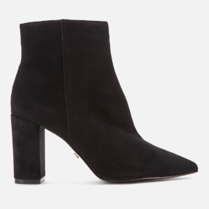 Dune Women's Otilia Suede Heeled Ankle Boots - Black