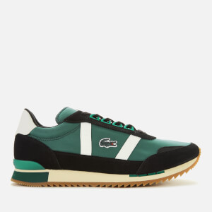 Lacoste Men's Partner Retro Trainers - Dark Green/Off White