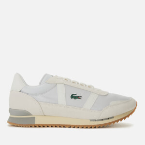 Lacoste Men's Partner Retro Trainers - Light Grey/Off White