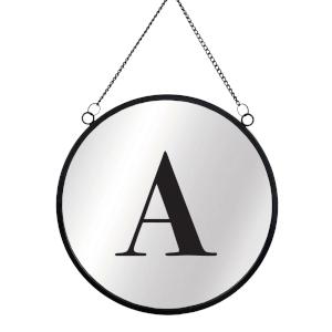 Letter Circular Mirror