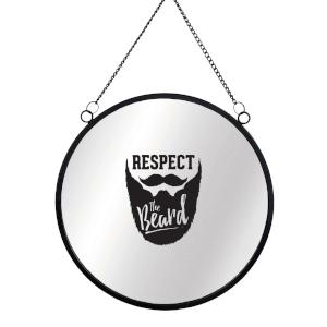 Respect The Beard Circular Mirror