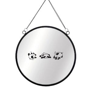 Rolling Panda Round Mirror & Vinyl Sticker