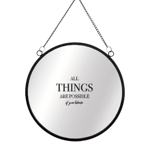 All Things Are Possible If You Believe Round Mirror & Vinyl Sticker