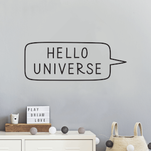 Hello Universe Wall Decal
